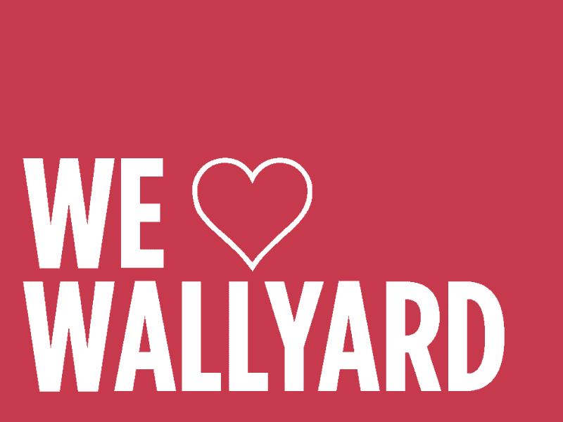 Wir lieben Wallyard .We love Wallyard.